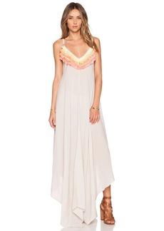 Mara Hoffman Fringe Handkerchief Dress
