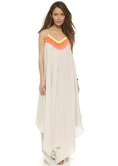 Mara Hoffman Fringe Handkerchief Dress