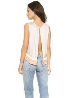 Mara Hoffman Fringe Open Back Top