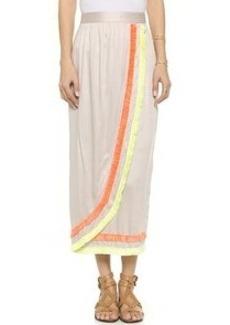 Mara Hoffman Fringe Wrap Skirt