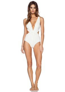 Mara Hoffman Front Twist One Piece Swimsuit