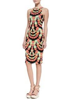 Mara Hoffman Garlands Print Sleeveless Sheath Dress