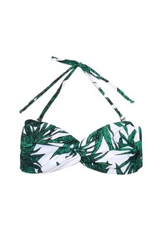 Mara Hoffman Harvest-print reversible bandeau bikini top