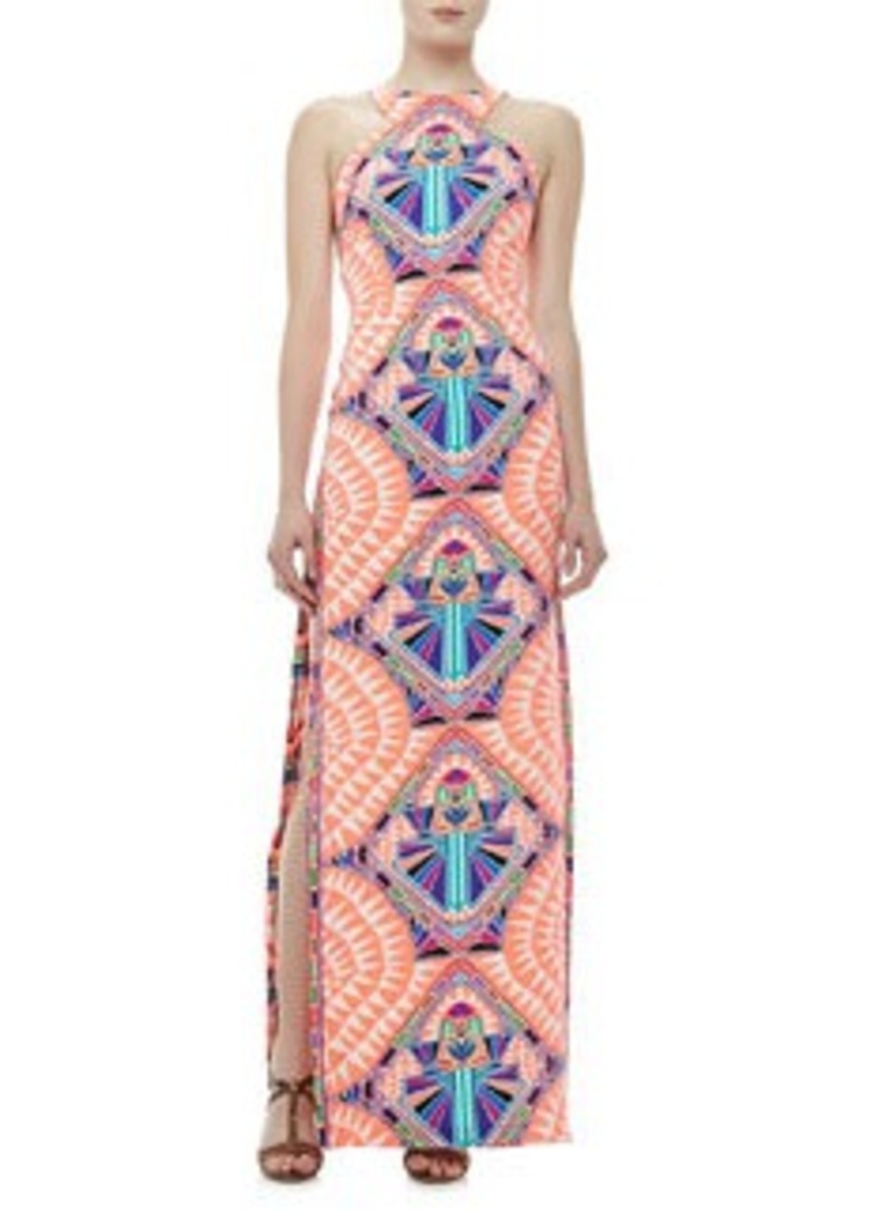Mara Hoffman High-Neck Printed Column Maxi Dress