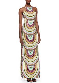 Mara Hoffman High-Neck Printed Maxi Dress