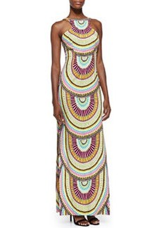 Mara Hoffman High-Neck Printed Maxi Dress