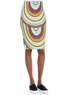 Mara Hoffman High-Waist Geometric-Print Pencil Skirt