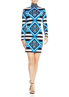 Mara Hoffman Jacquard Mini Turtleneck Dress