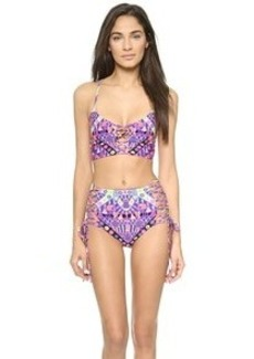 Mara Hoffman Lace Up Cami Reversible Bikini Top