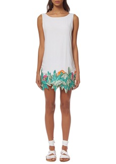 Mara Hoffman 'Leaf' Embroidered Cover-Up Shift Dress