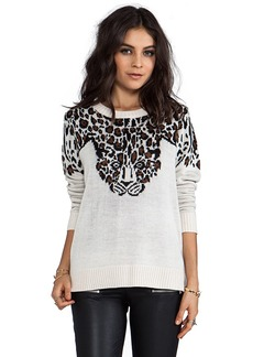 Mara Hoffman Leopard Pullover in Taupe