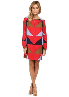 Mara Hoffman Long Sleeve Keyhole Mini Dress