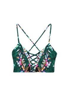 Mara Hoffman Maristar-print multi-stap reversible bikini top