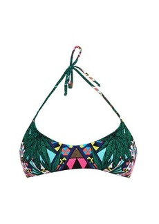 Mara Hoffman Maristar-print multi-strap reversible bikini top