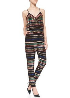 Mara Hoffman Metallic/Sequined Jersey Jumpsuit