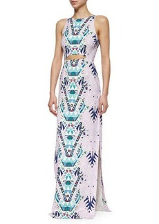 Mara Hoffman Mixed-Print Cutout Maxi Dress  Mixed-Print Cutout Maxi Dress