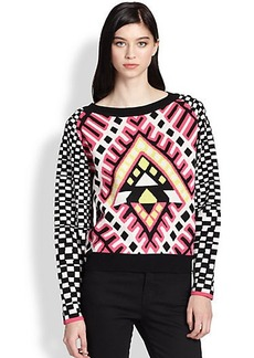 Mara Hoffman Mixed-Print Sweater