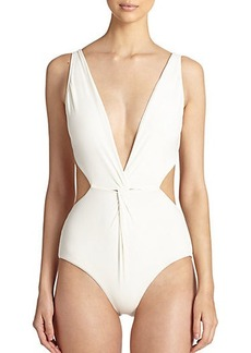 Mara Hoffman One-Piece Front-Twist Swimsuit