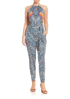 Mara Hoffman Peacock Stretch Modal Jumpsuit