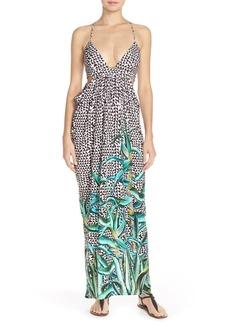 Mara Hoffman Print Cutout Maxi Dress