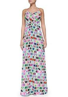 Mara Hoffman Printed Halter-Neck Maxi Dress