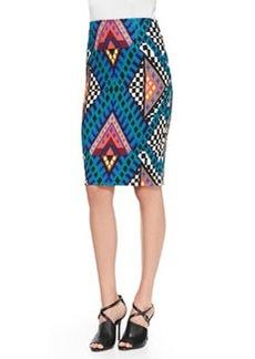 Mara Hoffman Printed High-Waist Pencil Skirt