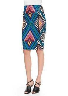 Mara Hoffman Printed High-Waist Pencil Skirt