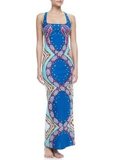 Mara Hoffman Printed Racerback Maxi Coverup Dress