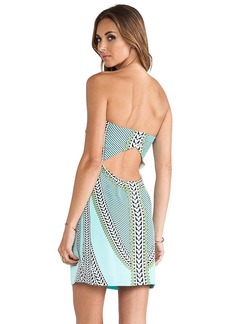 Mara Hoffman Printed Strapless Mini Dress in Mint