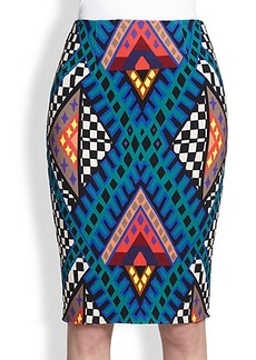Mara Hoffman Printed Stretch Jersey Pencil Skirt