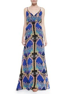 Mara Hoffman Pyramid-Print V-Neck Maxi Dress