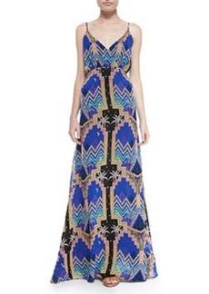Mara Hoffman Pyramid-Print V-Neck Maxi Dress