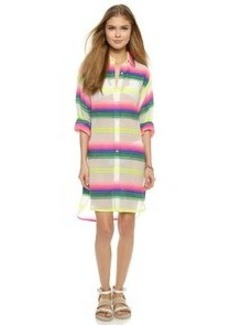 Mara Hoffman Rainbow Stripe Beach Shirt