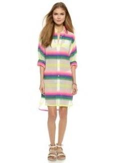 Mara Hoffman Rainbow Stripe Beach Shirt
