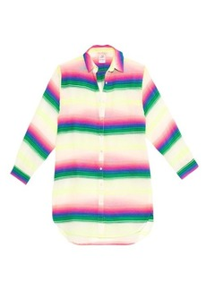 Mara Hoffman Rainbow striped gauze shirt cover-up