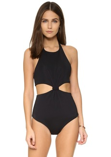 Mara Hoffman Reversible Knot Front Cutout One Piece