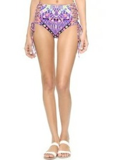 Mara Hoffman Reversible Lace Up Bikini Bottoms