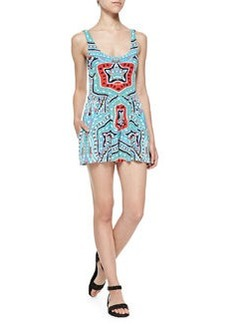 Mara Hoffman Scoop-Back Flared Printed Romper