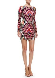 Mara Hoffman Scoop-Back Printed Jersey Minidress