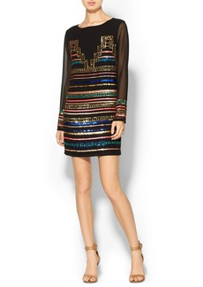 Mara Hoffman Sequin Georgette Mini Dress