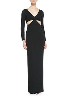 Mara Hoffman Side-Cutout Jersey Coverup Gown