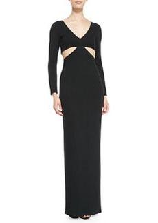 Mara Hoffman Side-Cutout Jersey Coverup Gown