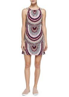 Mara Hoffman Sleeveless Printed Relaxed-Fit Dress