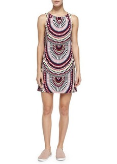 Mara Hoffman Sleeveless Printed Relaxed-Fit Dress