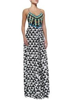 Mara Hoffman Spaghetti-Strap Embellished Maxi Dress