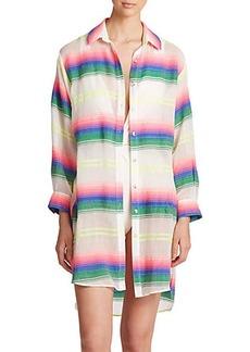 Mara Hoffman Striped Button-Down Shirt