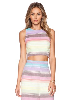 Mara Hoffman Striped Crop Top