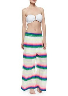 Mara Hoffman Striped Wide-Leg Gauze Pants