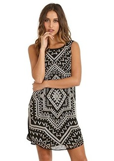 Mara Hoffman Women's Dashiki Beaded Silk Shift Dress, Black, Large