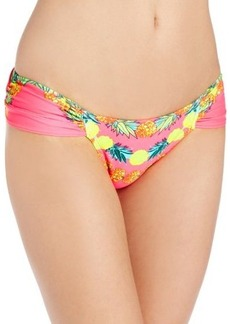 Mara Hoffman Women's Garlands Ruched Side Bikini Bottom